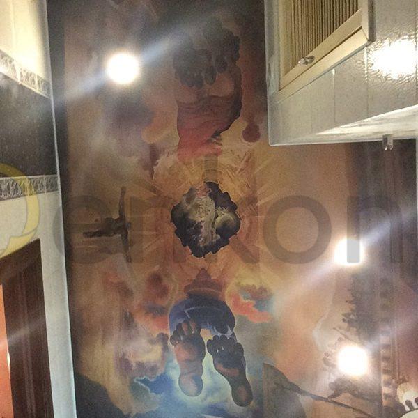 Натяжной потолок в ванной комнате - Проект 4