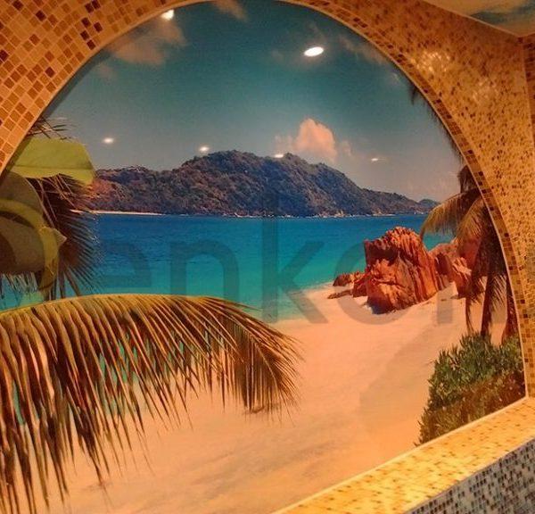 Натяжной потолок в ванной комнате - Проект 6
