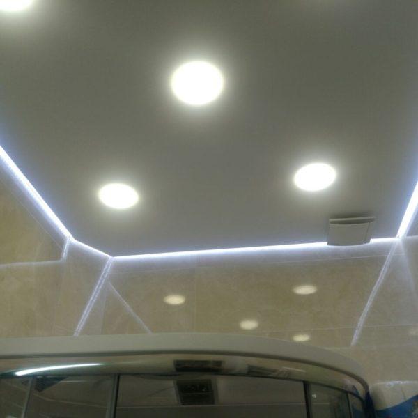 Натяжной потолок в ванной комнате - Проект 7