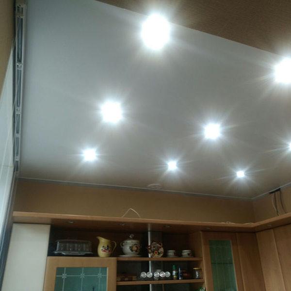 Натяжные потолки на кухню - Проект 12