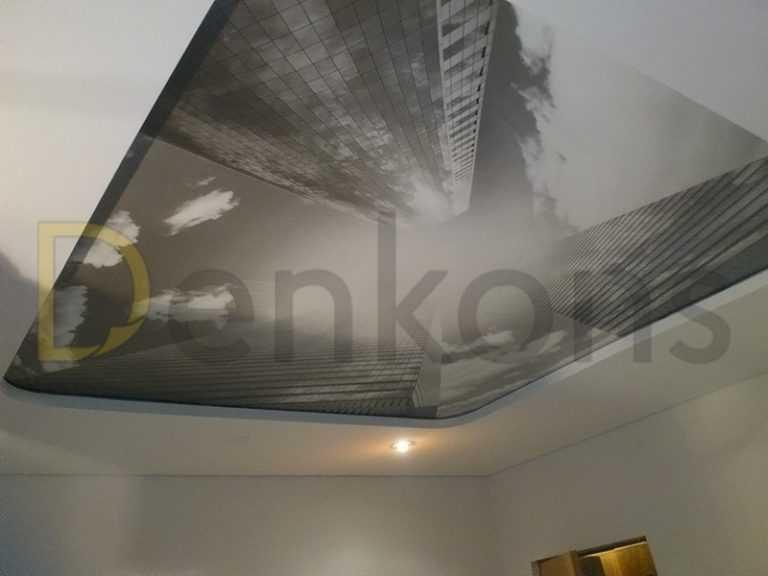 Натяжные потолки в спальню под ключ Проект