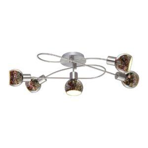 Потолочная люстра Arte Lamp Illusione A6125PL-5SS