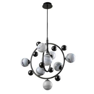 Подвесная люстра Crystal Lux Salvadore SP8V Black Chromium