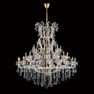 Каскадная люстра Crystal Lux Hollywood SP53 Gold