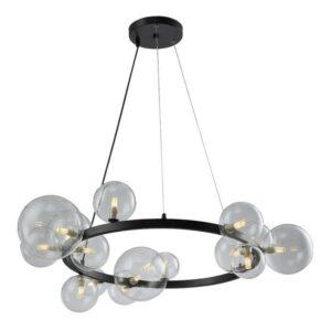 Подвесная люстра Crystal Lux Agata SP15 Black/Transparente