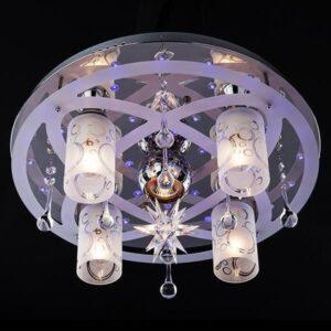 Светильник Eurosvet с пультом 70202/5 хром/синий+красный+фиолетовый