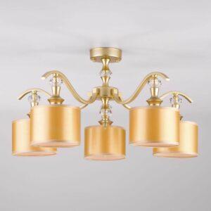 Потолочная люстра Eurosvet 60070/5 перламутровое золото