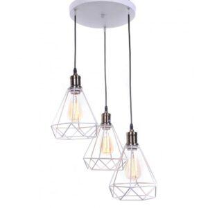 Подвесная люстра Lumina Deco Cobi LDP 11609-3 WT