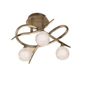 Потолочная люстра Mantra Loop Antique Brass 1824