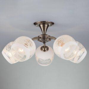 Потолочный светильник Eurosvet 30118/5 античная бронза